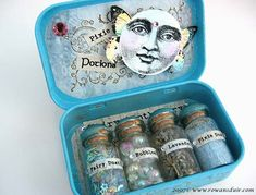 Altered box, would like to do this but add locks of hair, baby teeth, and other memories with dates and then picture on lid. Yeah this is my next pinterest project :-)