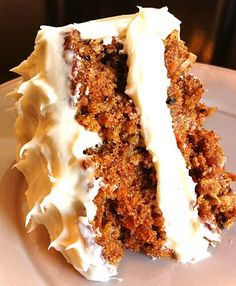 Classic Carrot Cake with hints of cinnamon