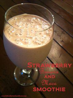 Strawberry-Banana-and-Maca-Smoothie