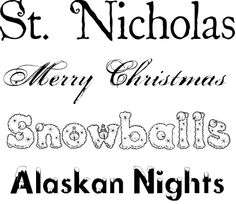 10 Free Christmas fonts