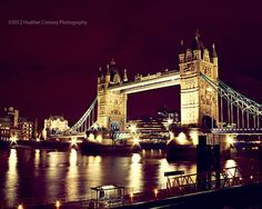 Tower Bridge London  signed 8x10 print  Home by HConwayPhotography, $30.00