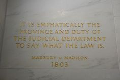 February 24th 1803: Marbury v. Madison