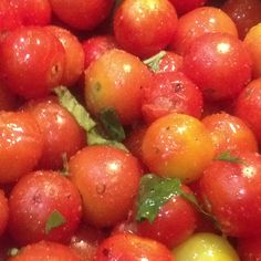 Cooking cherry tomatoes