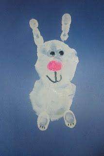 hand print bunny