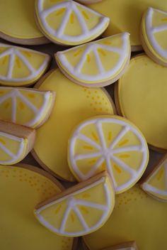 Lemon Iced Cookies - so cute