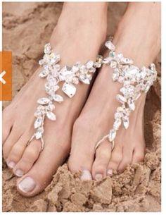 DIY Beautiful Barefoot Beach Sandal Ideas!!