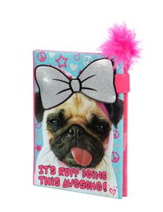 Magnetic Pug Diary   Girls Journals & Writing Room, Tech & Toys   Shop Justice