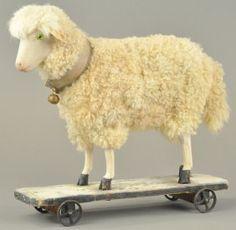German Pull Toy Sheep