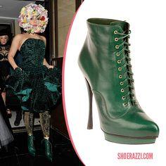 Lady Gaga wearing Alexander McQueen