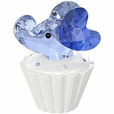 elephants, crystal cupcak, cupcakes, swarovski figurin, elephant ears