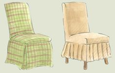What else?  Parson's chair slipcover ideas