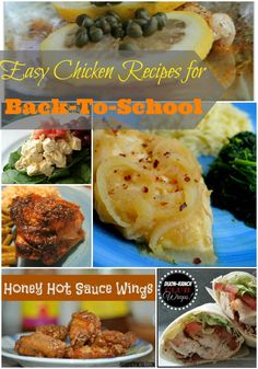 Easy Chicken Recipes for Back-to-School - 4 Hats and Frugal