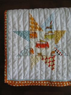 star quilt, summer sunshine, faux pipe