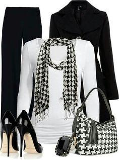 Houndstooth Black & White