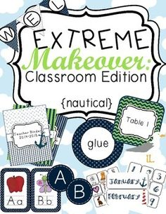 Extreme Makeover: Classroom Edition Nautical (Green & Blue