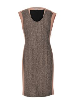 DVF fitted grey and pink dress