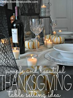Creating A Casual Fall Tablescape - First Home Love Life #thanksgiving #fall #home #diningroom