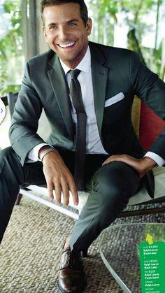 ralph lauren, bradley cooper, green, ties, men fashion, suits, magazin, pocket squares, olives