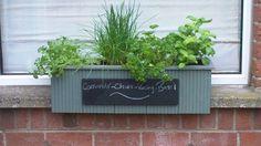 herb planter window box