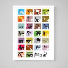 Alphabet Color Framed  by Joel Pirela