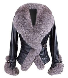 Cnlinkco Lady's Winter Full Sleeve Fur Leather Coat
