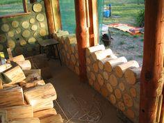 cordwood cabin | Hungarian Cordwood by Tamas Abel | Cordwood Construction