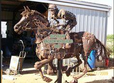 whitehead, metal sculptures, andrew, metal hors, horses, metals, australia, scrap metal, metal art