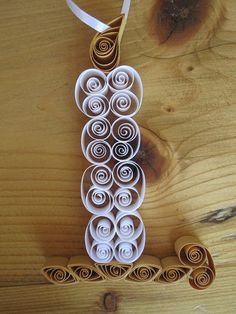 Quilled Candle Christmas Ornament by GrandFinaleArt on Etsy, $8.00