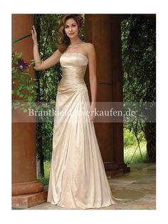 ETUI-LINIE Champagne Garten Frühling Hochzeitskleid