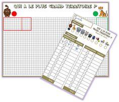 CE1 : Qui a le plus grand territoire ? : jeu sur la multiplication