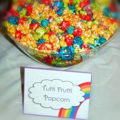 Popcorn at a Rainbow Party #rainbow #partypopcorn