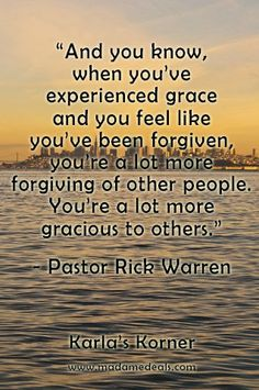 Karla's Korner: Living in Grace and Forgiveness #inspireothers #quotes