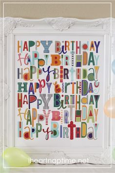 Happy Birthday to YOU! {free printable}