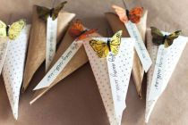 butterfli, party favors, paper cones, wedding favors, treat bags, green weddings, diy wedding, parti, garden weddings