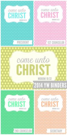 2014 LDS Young Womens Binders