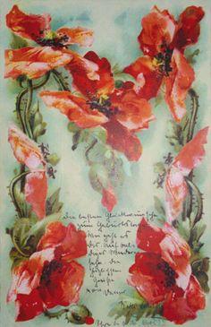 "Letter ""M"": Catherine Klein's alphabet (Poppies)"