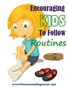 Encouraging Kids to Follow Routines using charts