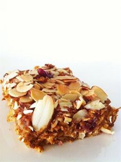 14 Healthy DIY Protein Bar Recipes: Pumpkin Cranberry Almond Protein Bars