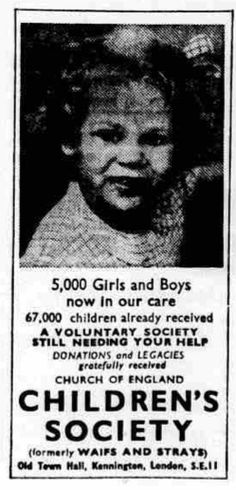 Children's Society. 20 February, 1952.