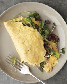Mushroom-and-Microgreen Omelet Recipe