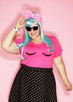 Domino Dollhouse - Plus Size Clothing: Lashed T-Shirt