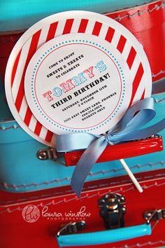Candy theme invite!
