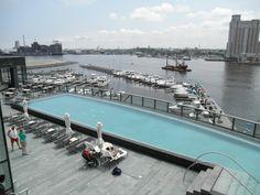Infinity pool at Four Seasons Baltimore