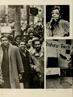 """Spectrum Green yearbook, 1981. """"On Tuesday, January 15, many black students marched down Court Street in honor of Martin Luther King Jr."""" :: Ohio University"""
