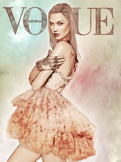 graphic design, magazine covers, karlie kloss, french fashion, art, hand drawn, vogue magazine, vogue covers, fashion illustrations