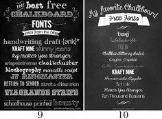 The Scrap Shoppe: Mega Chalkboard Font Round Up!