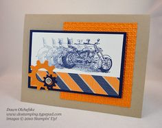 Awesome - Motorcycle stamp is from Stampin' Up