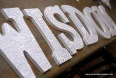Teaching Widsom to Kids - Scripture on Wood Letters with Mod Podge