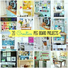 20 pegboard creative spaces