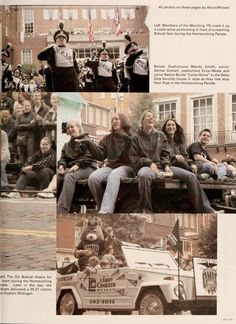 """Athena yearbook, 2003. """"Students and alumni homecoming victory."""" ::Ohio University Archives"""